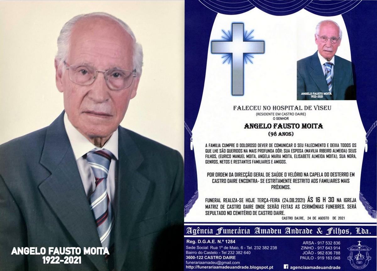 FOTO RIP  DE ANGELO FAUSTO MOITA-98 ANOS (CASTRO D