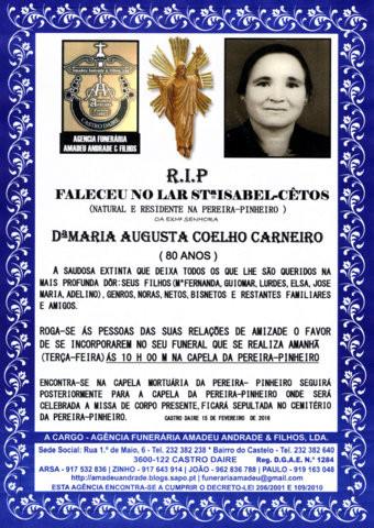 RIP- DE MARIA AUGUSTA COELHO CARNEIRO-80 ANOS (PER