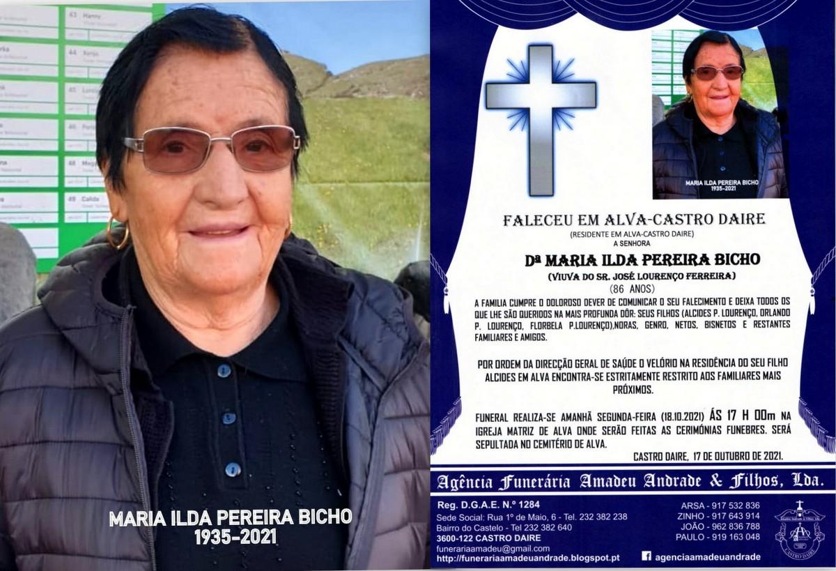 FOTO RIP DE MARIA ILDA PEREIRA BICHO-86 ANOS (ALVA