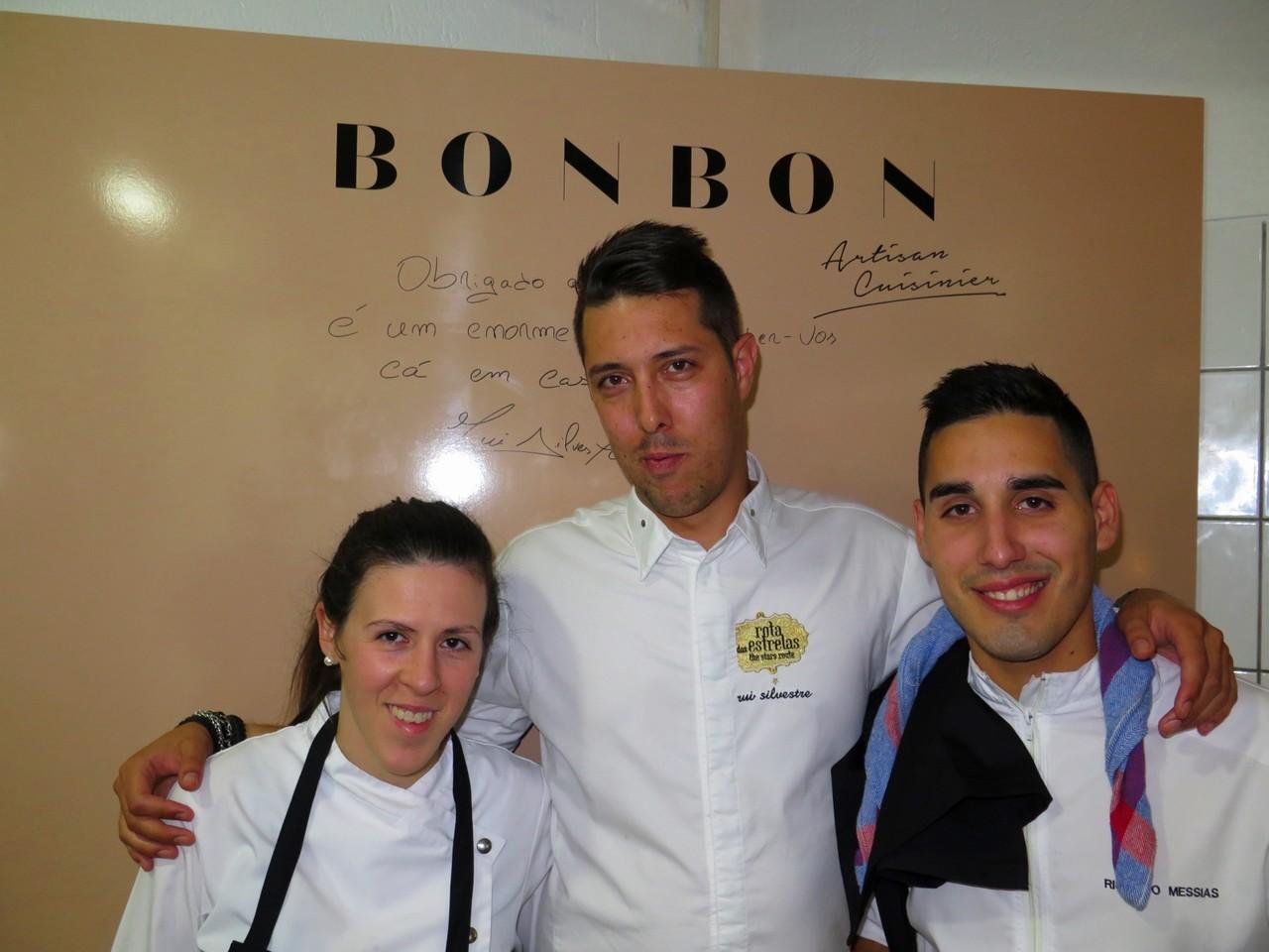 Chef pasteleira Nadia Carrasco, Rui Silvestre, Ricardo Messias