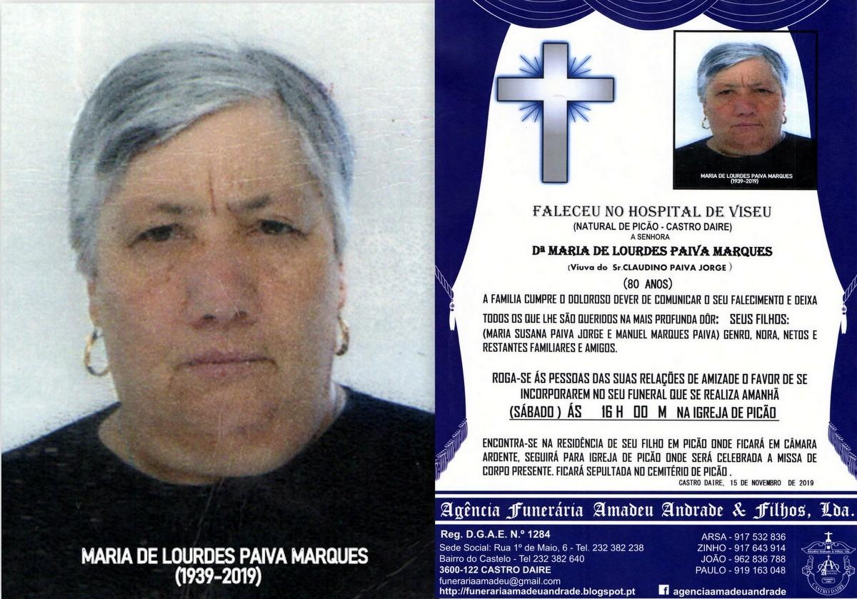 FOTO RIP DE MARIA DE LOURDES PAIVA MARQUES-80 ANOS