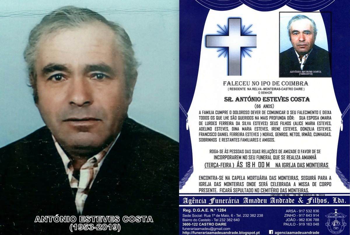 FOTO  RIP  DE ANTÓNIO ESTEVES COSTA-66 ANOS (RELV