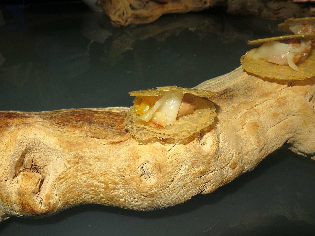 Chicken Liver with Raisins, Chicken Skin and Bacon