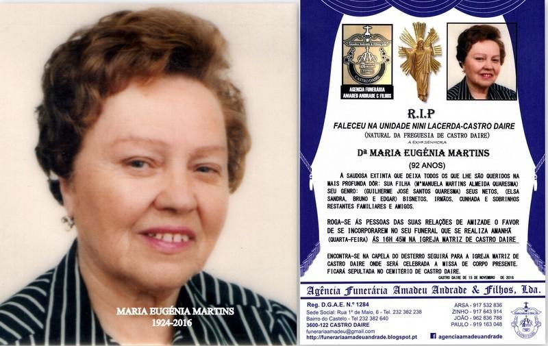FOTO DE MARIA EUGENIA MARTINS-92 ANOS (CASTRO DAIR