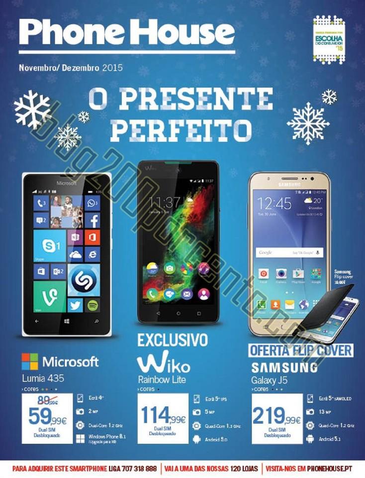 Novo Folheto PHONE HOUSE Natal promoções de 30 n