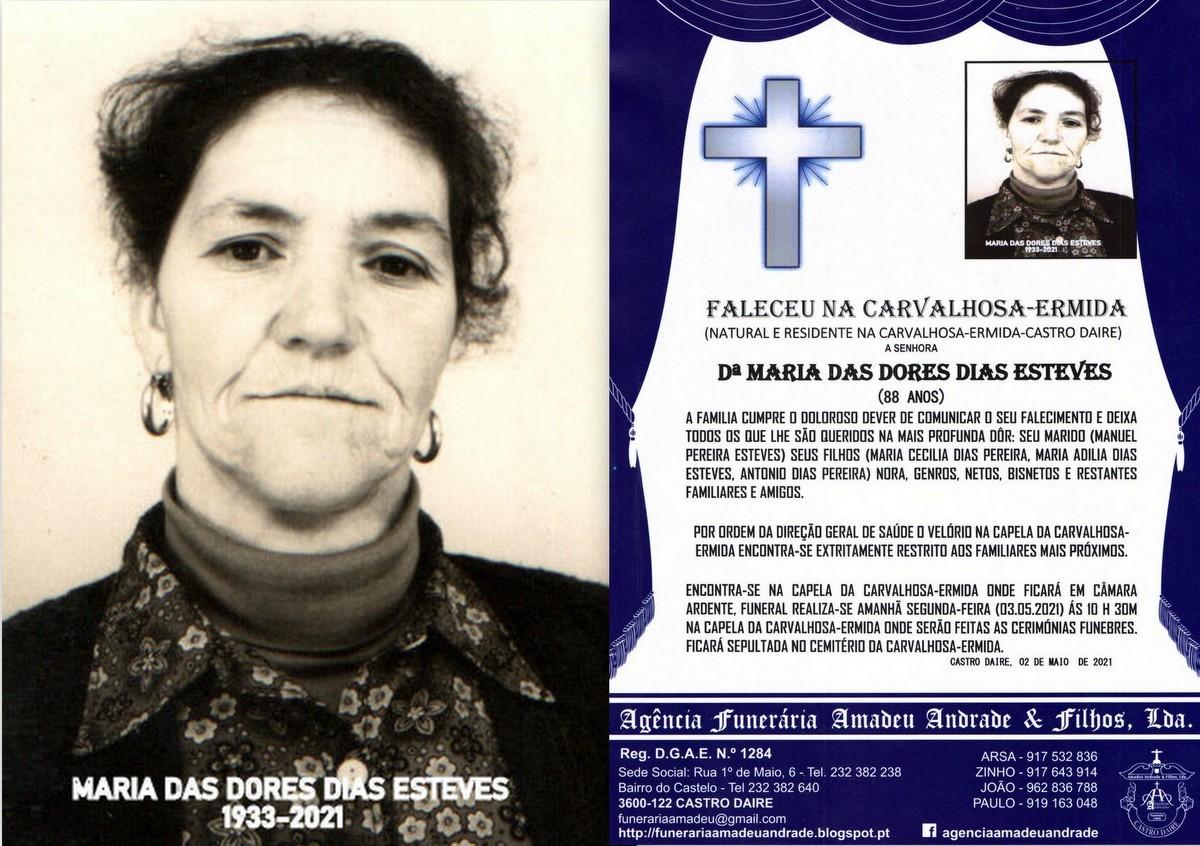 FOTO RIP DE MARIA DAS DORES DIAS ESTEVES-88 ANOS (