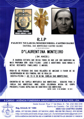 RIP-DE LAURENTINA MONTEIRO-94 ANOS(MONTEIRAS) (2).