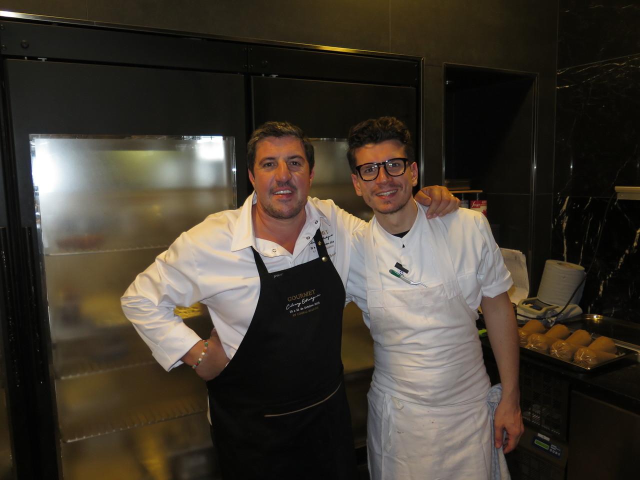 Claude Bosi e o seu Head Chef Francesco Dibenedetto
