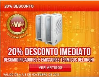 20% de desconto imediato | WORTEN | Emissores e desumificadores Delonghi, até 8 novembro