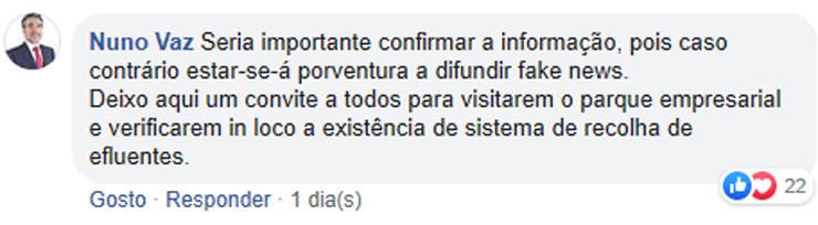 Comentário Nuno Vaz Chaves Cidade Linda nº 1 - p