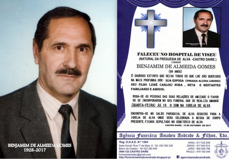 FOTO RIP-DE BENJAMIM DE ALMEIDA GOMES-89 ANOS (ALV