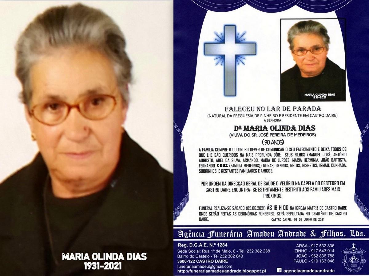 FOTO RIP NOVO  DE MARIA OLINDA DIAS-90 ANOS (CASTR