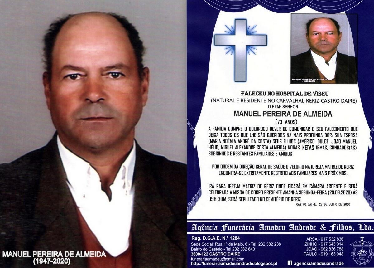FOTO RIP  DE MANUEL PEREIRA DE ALMEIDA -73 ANOS (C