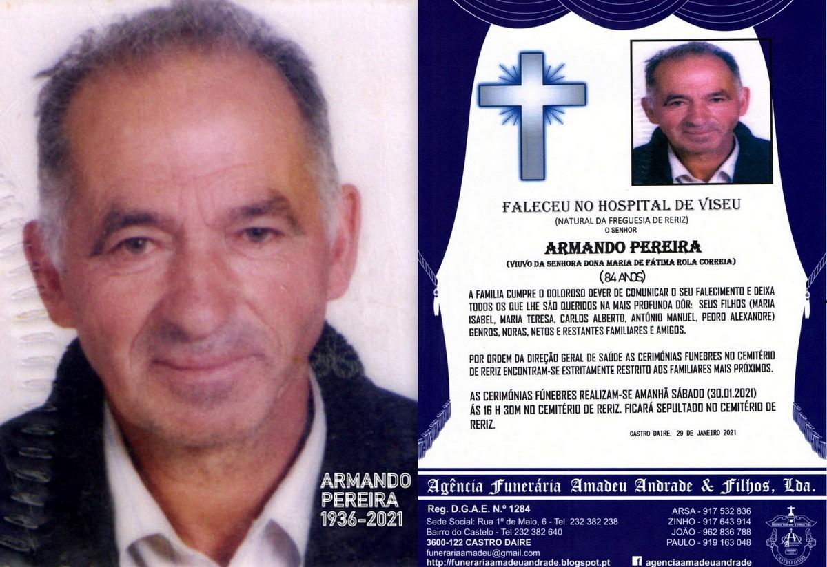 FOTO RIP DE ARMANDO PEREIRA-84 ANOS (CASAL BOM-RER