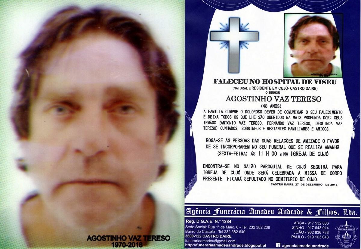 FOTO RIP-DE AGOSTINHO VAZ TERESO-48 ANOS (CUJÓ) (