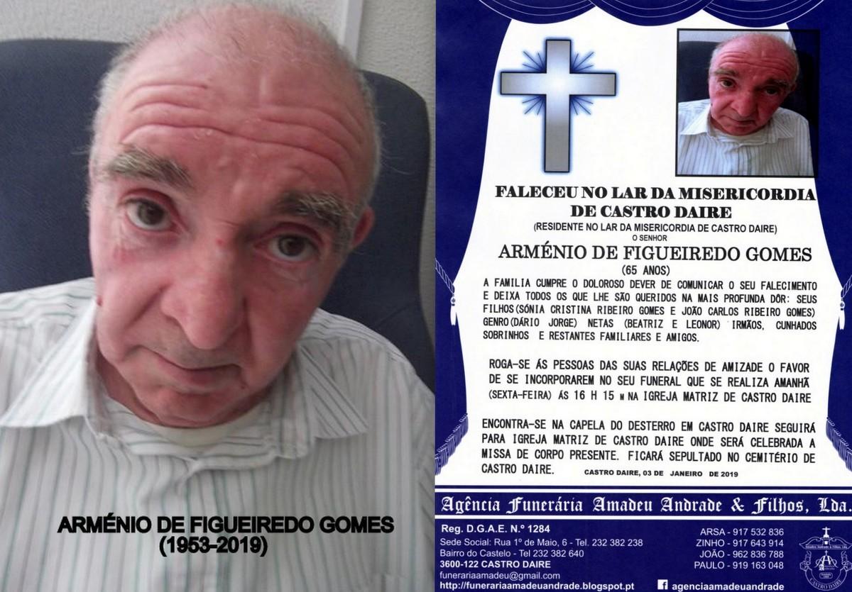 FOTO RIP DE ARMÉNIO DE FIGUEIREDO GOMES -65 ANOS