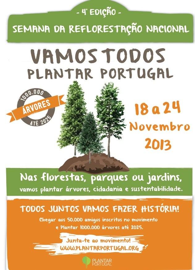 Vamos Plantar Portugal, de 18 a 24 novembro