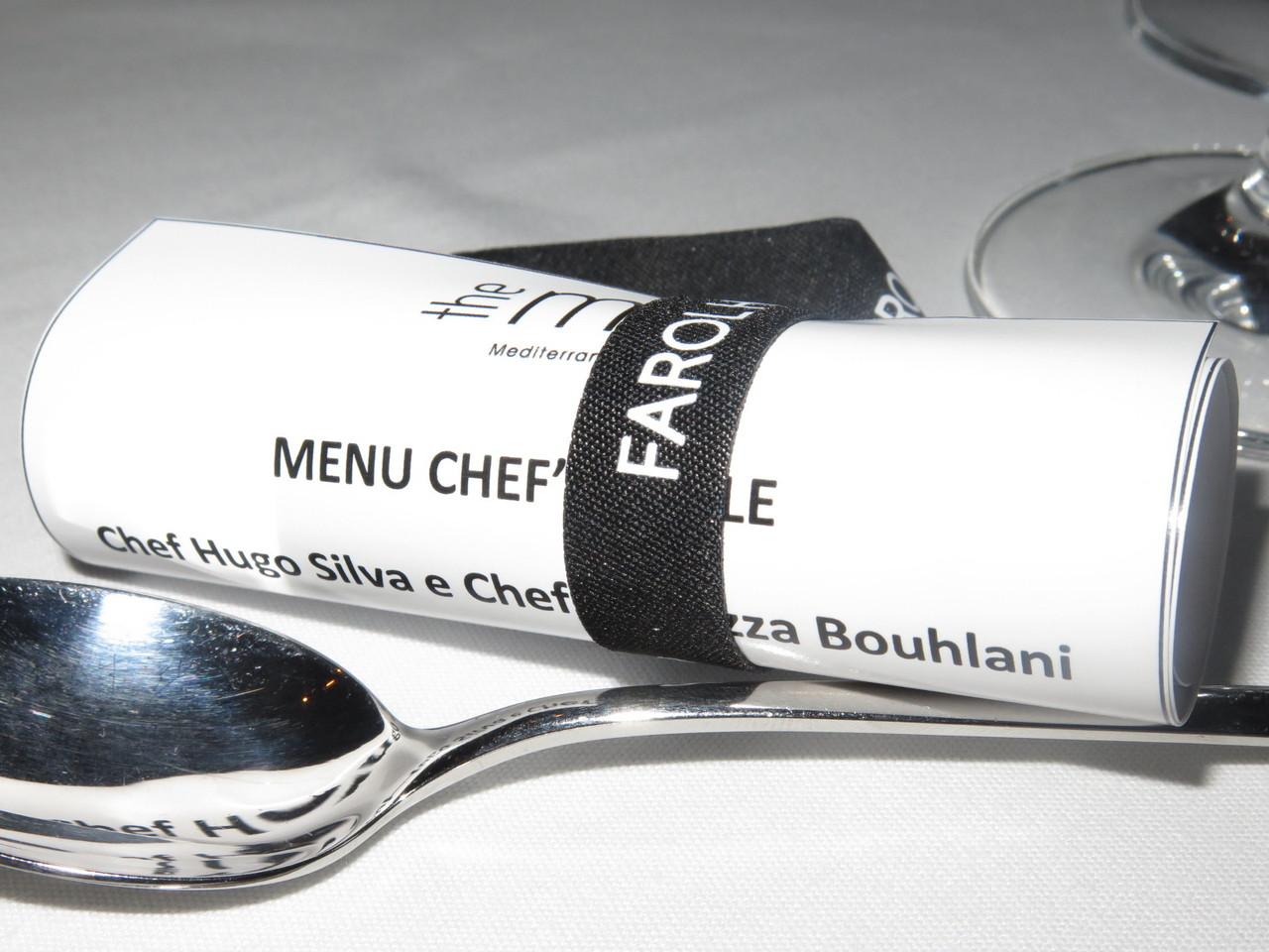 Menu Chef's Table