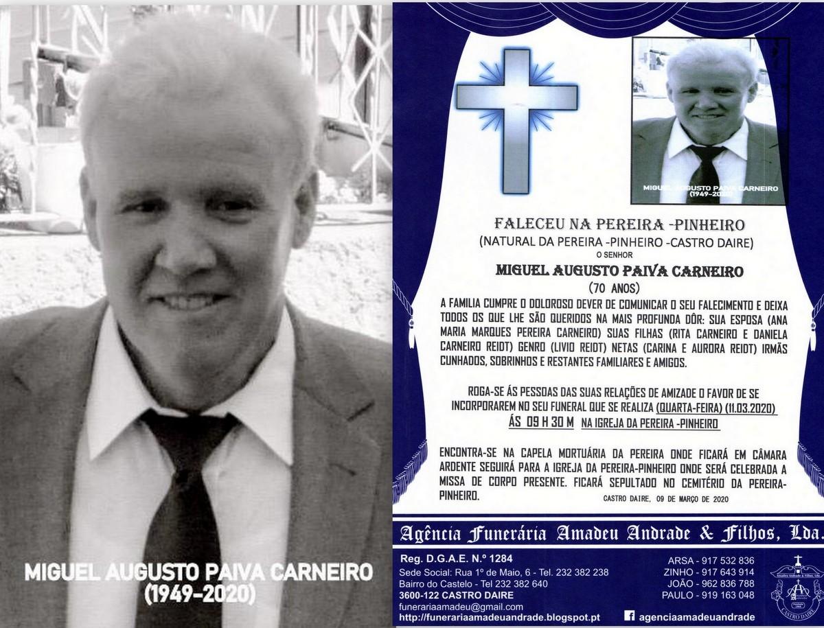 FOTO RIP DE MIGUEL AUGUSTO PAIVA CARNEIRO-70 ANOS