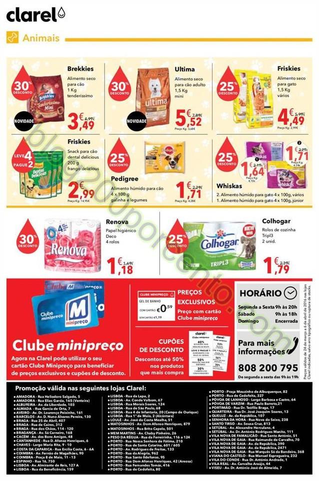 Antevisão Folheto CLAREL Promoções de 24 março