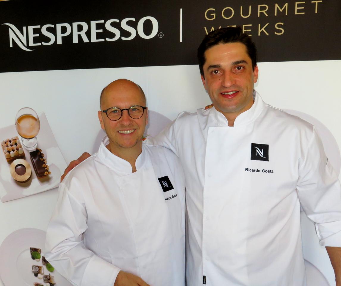 Nespresso Gourmet Weeks no GUSTO: Heinz Beck e Ricardo Costa