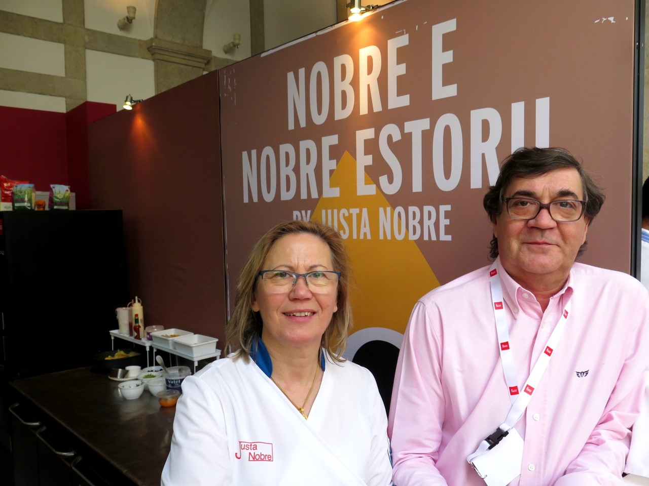 Justa Nobre e o cunhado Paulo Graça