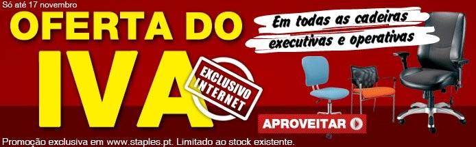 Oferta do IVA   STAPLES   até 17 novembro cadeiras