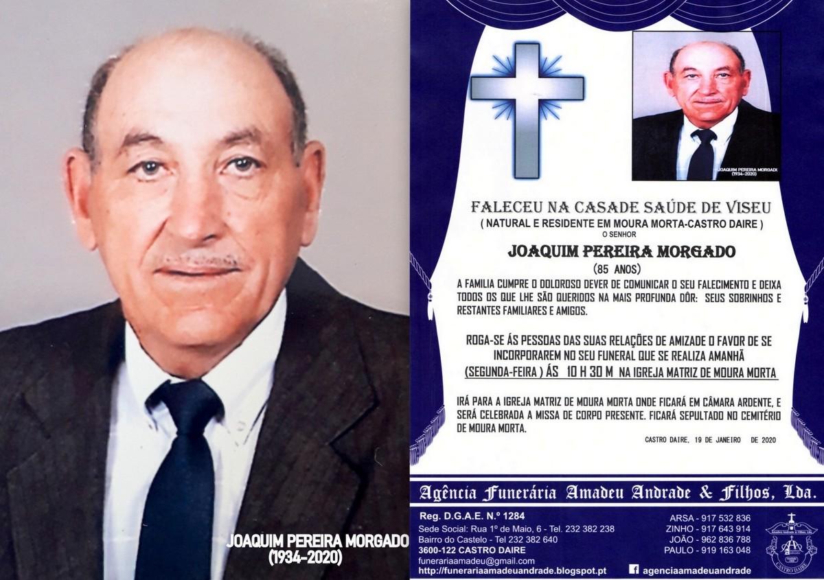 FOTO RIP DE JOAQUIM PEREIRA MORGADO-85 ANOS (MOURA