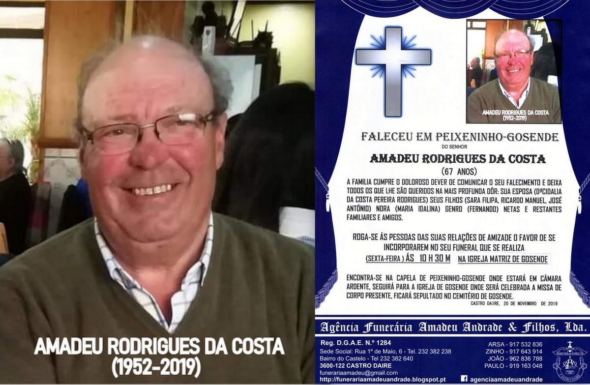 FOTO RIP-DE AMADEU RODRIGUES DA COSTA -67 ANOS (PE