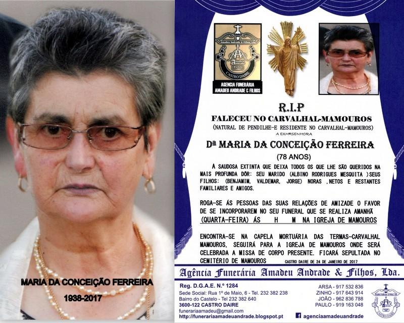 RIP-FOTO DE MARIA DA CONCEIÇÃO FERREIRA-78 ANOS