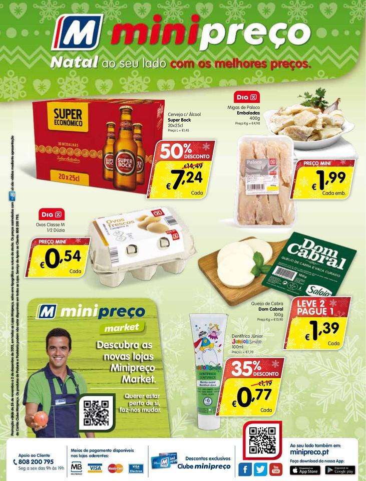 Antevisão Folheto MINIPREÇO Market de 26 novembr