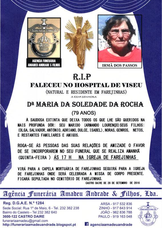 RIP- DE MARIA DA SOLEDADE DA ROCHA -FAREJINHAS (2)