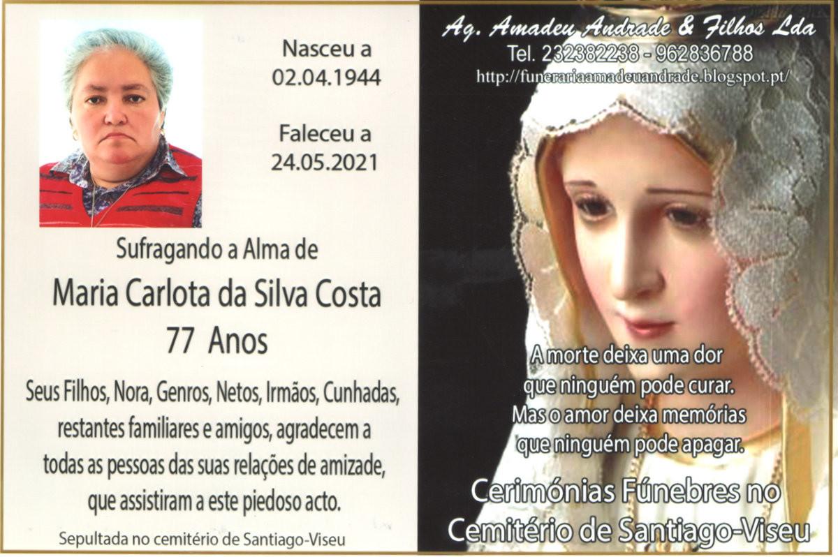 CARTÃO DE AGRADECIMENTO DE MARIA CARLOTA DA SILVA