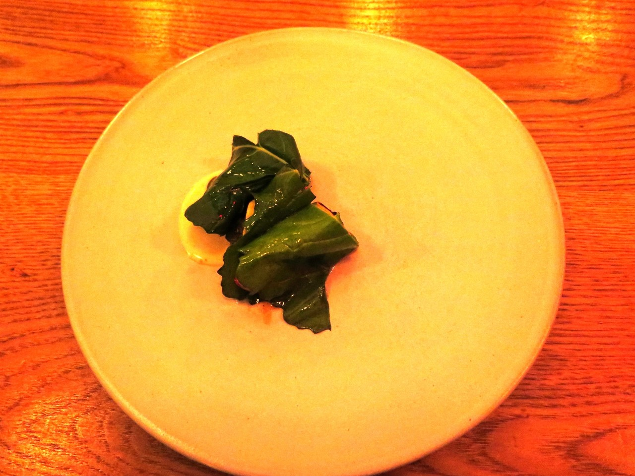 Roasted Celeriac with Apple & Broccoli Rabe Leaves