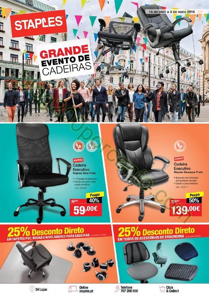 Antevisão Folheto STAPLES Promoções de 14 abril