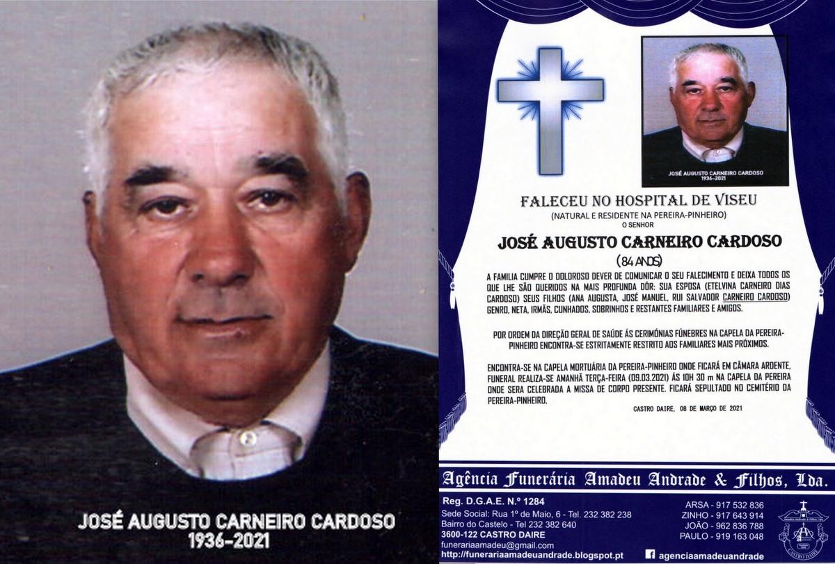 FOTO RIP JOSÉ AUGUSTO CARNEIRO CARDOSO-84 ANOS (P