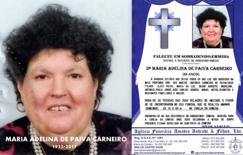 RIP-FOTO DE MARIA ADELINA PAIVA CARNEIRO-84 ANOS (