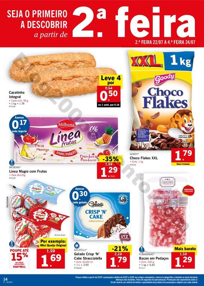 folheto LIDL alimentar Promoções a partir de 22