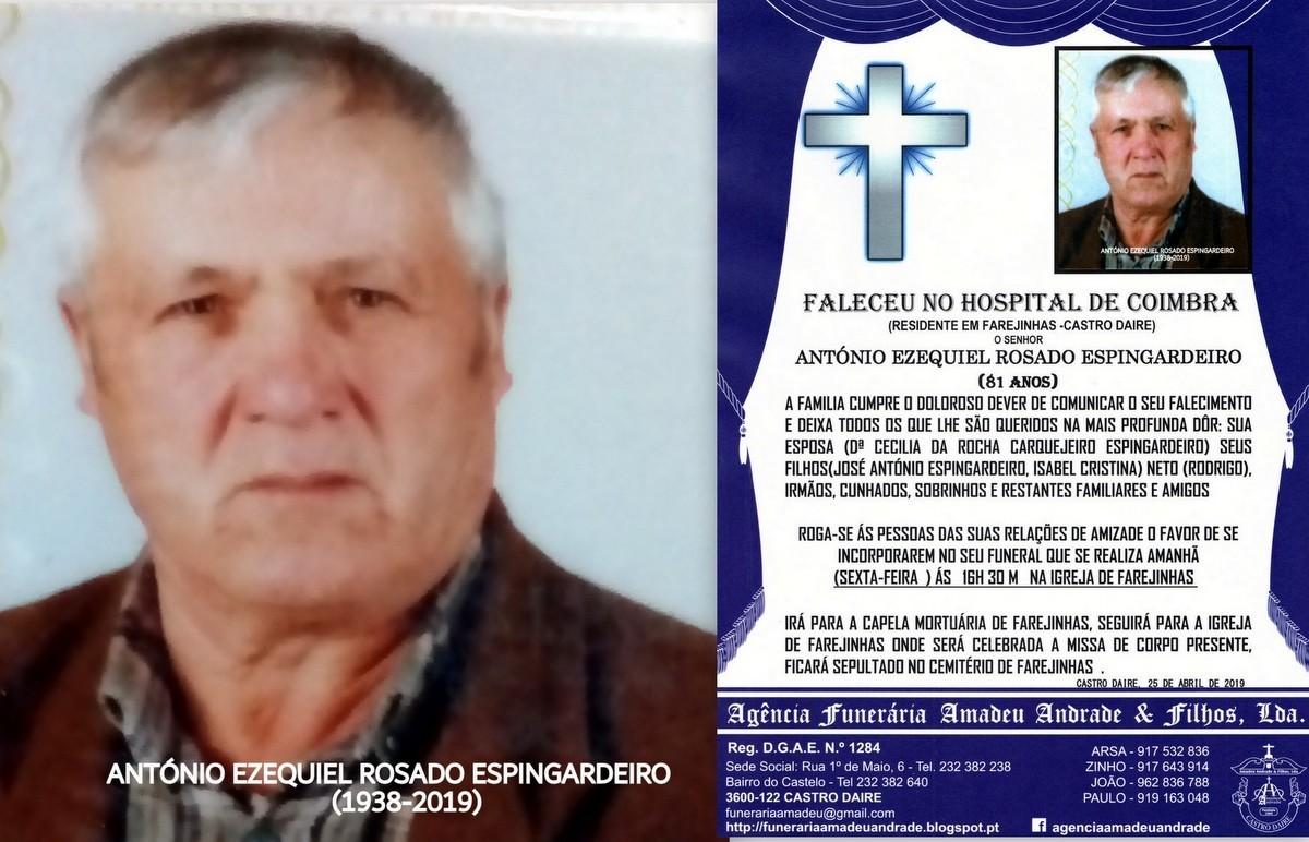 FOTO  RIP  DE ANTÓNIO EZEQUIEL ROSADO ESPINGARDEI