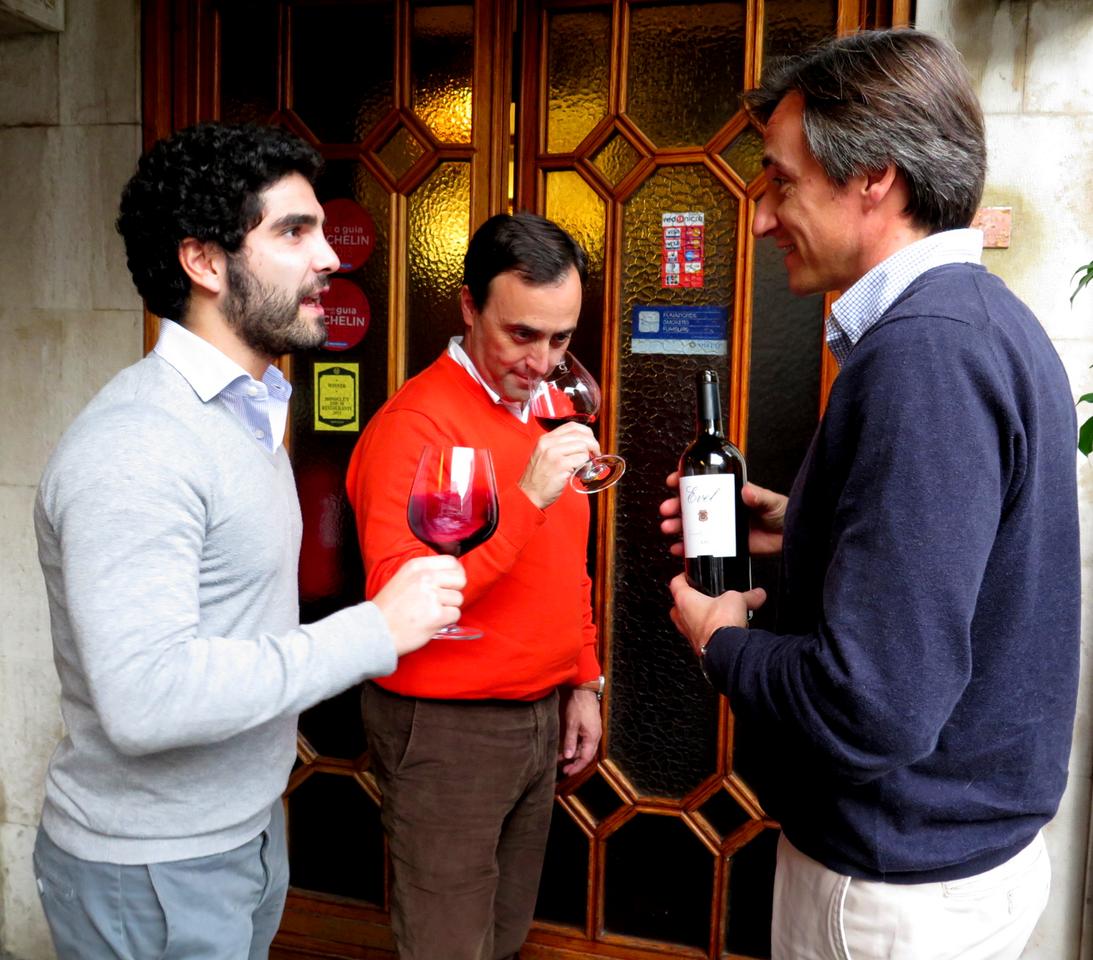 Pedro O. Silva Reis (marketing), Rui Soares (viticultura), Jorge Moreira (enologia)