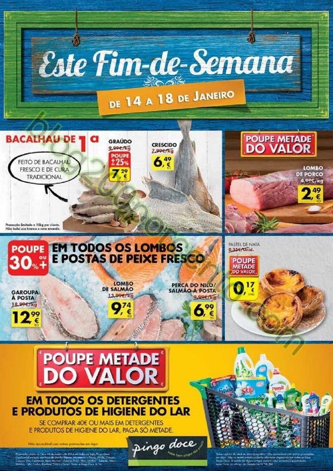 Antevisão Folheto PINGO DOCE Fim de semana de 14