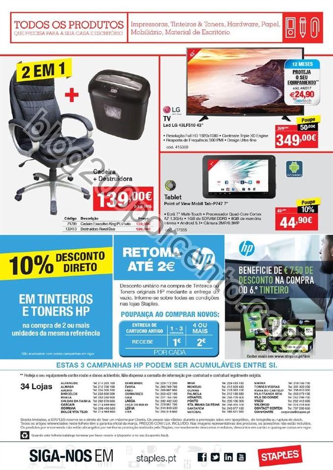 Antevisão Folheto STAPLES promoções de 19 a 31