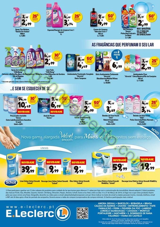Novo Folheto E-LECLERC Extra promoções de 15 a 2