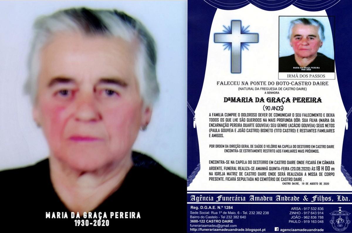FOTO RIP  DE MARIA DA GRAÇA PEREIRA-90 ANOS (PONT