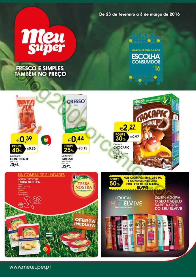 Antevisão Folheto MEU SUPER Promoções de 23 fev