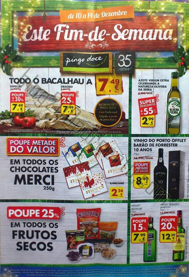 Novo Folheto PINGO DOCE Promoções de 10 a 14 dez
