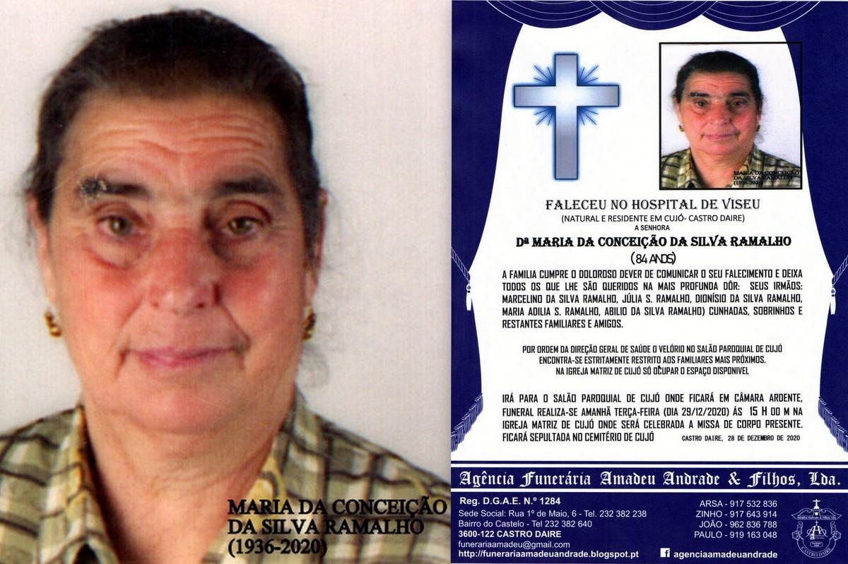 FOTO RIP  DE MARIA DA CONCEIÇÃO DA SILVA RAMALHO