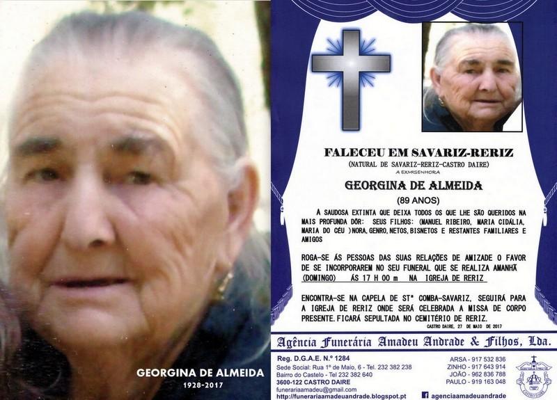 RIP-FOTO DE GEORGINA DE ALMEIDA-89 ANOS (SAVARIZ-R