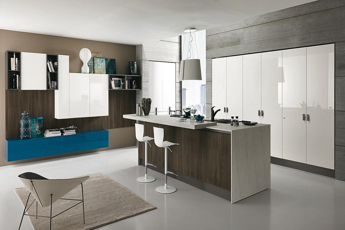 Cozinha Ilha Moderna Construindo Minha Casa Clean Tendncia De