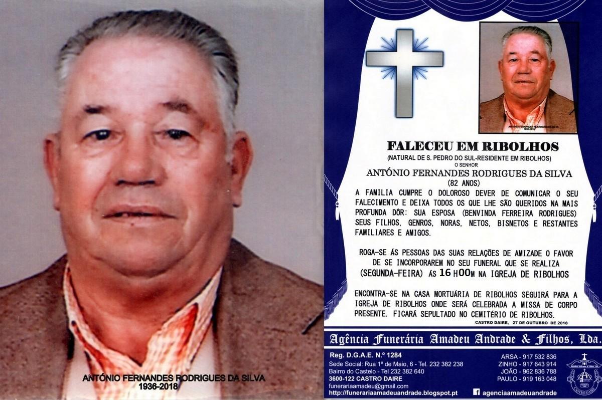 FOTO RIP DE ANTÓNIO FERNANDES RODRIGUES DA SILVA